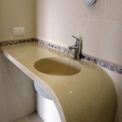 Столешница для ванной из искусственного камня Украина