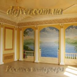 роспись стены под лепку