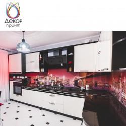 Изготовление стеклянных кухонных фартуков для кухни, модульных картин, фотообоев
