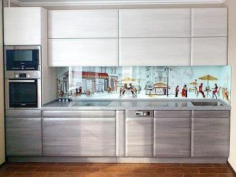 Стеклянный кухонный фартук