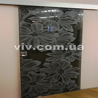 Двери верхнеподвесные цельностеклянные межкомнатные