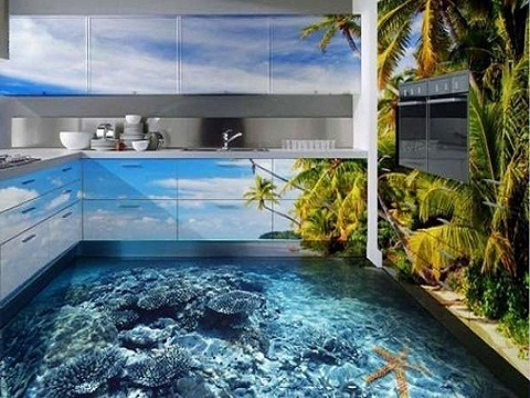Фотопанели 3D на кухню